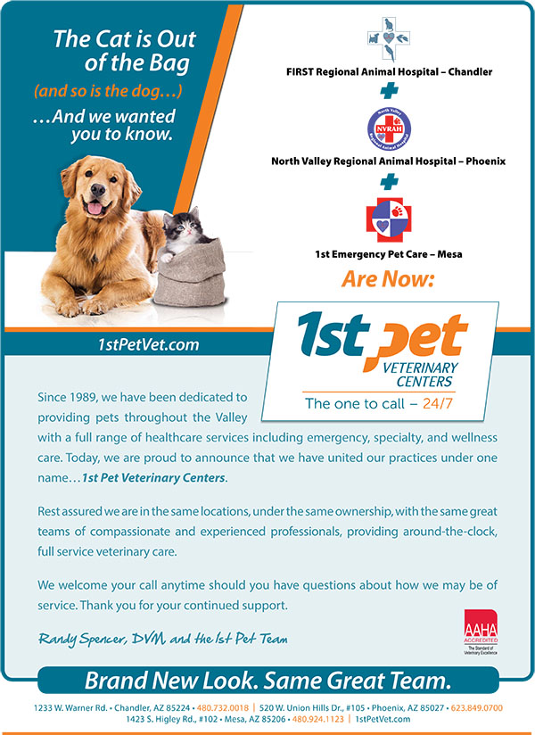 Image: 1st Pet Veterinary Centers: Rename and rebrand multiple locations into one